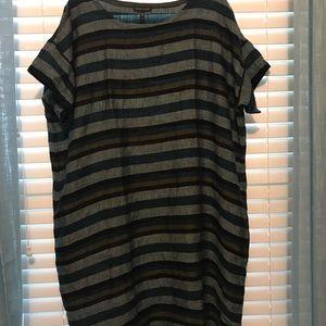 eileen fisher striped dress